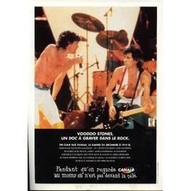 THE ROLLING STONES PUBLICITE DU MAGAZINE ROCK'N'FOLK VOODOO STONES. 1995
