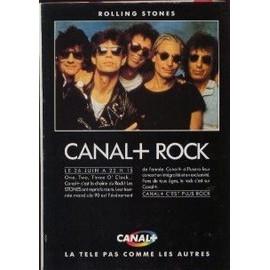 THE ROLLING STONES PUBLICITE DU MAGAZINE ROCK'N'FOLK CANAL + ROCK