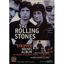 THE ROLLING STONES PUBLICITE DU MAGAZINE ROCK'N'FOLK STRIPPED