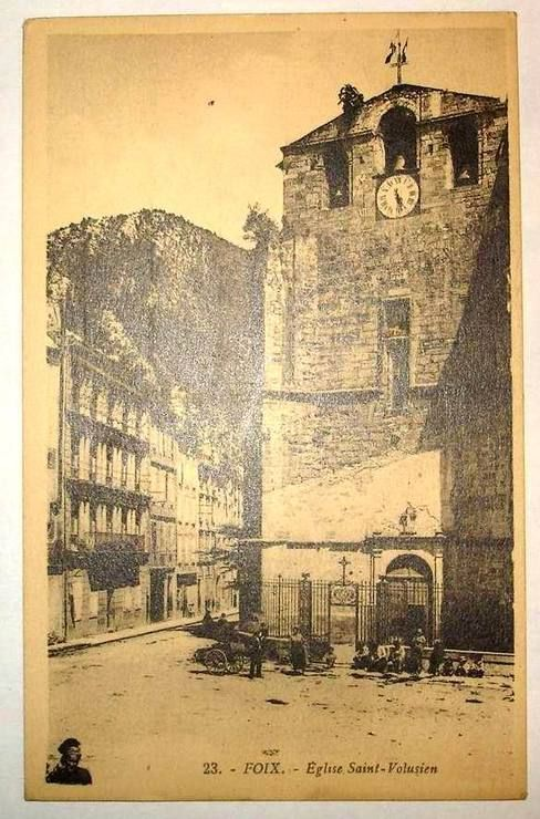 Carte Postale Ancienne L Ariege Foix Eglise Saint Volusien
