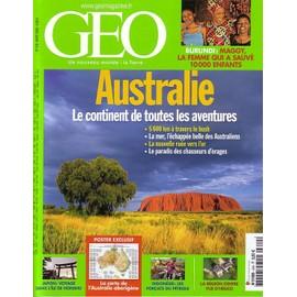 G�o 2008 (N�349) Australie, Le Continent De Toutes Les Aventures