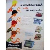 Publicite Ancienne De 1961 Pour