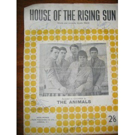 the animals house of the rising sun dedicace de cliff richard - ray charles - beatles