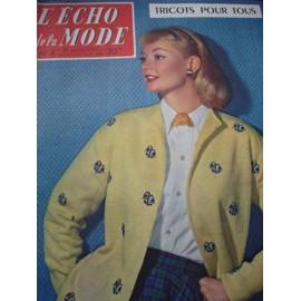 L' Echo De La Mode Numero 4 Du 27 Janvier 1957 N� 4