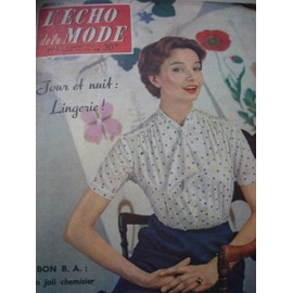L'echo De La Mode Numero 1 Du 6 Janvier 1957 Chanel N� 1