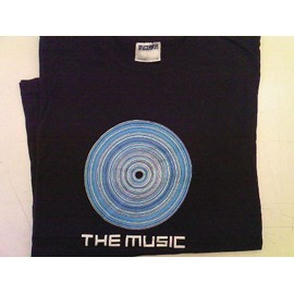t-shirt noir taille s THE MUSIC