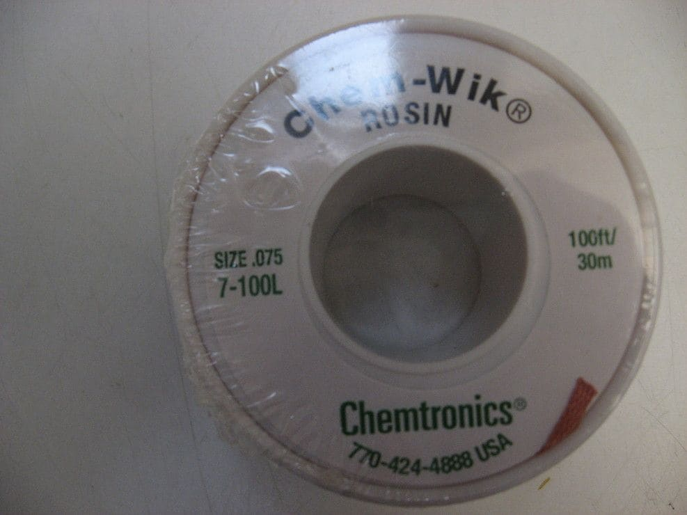 CHEMTRONICS CHEM WIK Tresse à Dessouder 1DOT90mm x 30M