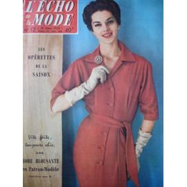 L Echo De La Mode N� 12 Du 23 Mars 1958 Dior,Lille Roubaix Tourcoing,Gilbert Becaud,Thomas Cook N� 12