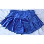 Jupette De Patinage Artistique Lycra Velours Bleu Roi Marque Agiva T. 10 Ans