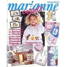 Marianne Enfants; Septembre 2000 N� 9 : Des Trousseaux, Des Chambres Et Plein D'id�es Romantiques, Amusantes, Originales