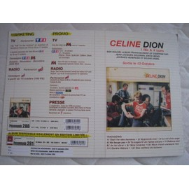 celine dion : 1 fille et 4 types (plv luxe grand format avec cd collector !)