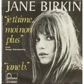 JANE BIRKIN - SERGE GAINSBOURG - Je t'aime moi non plus - 7inch x 1