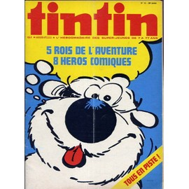 Tintin (�dition Belge) 28e Ann�e N� 13 : 5 Rois De L'aventure, 8 H�ros Comiques