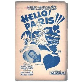 """2e guerre mondiale : """"hello! paris"""" (welcome aux sammies) du film """"hello paris"""" (roméo carlès, pierre caron, louis gasté, marius coste) / fred adison et son orchestre"""