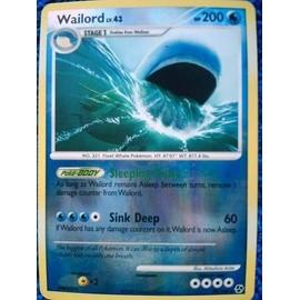 Carte Pokemon Wailord Holo 200pv 30/106 Lv.43