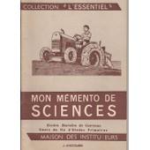 Mon M�mento De Sciences Ecoles Rurales De Gar�ons Cours De Fin D'�tudes Primaires de Anscombre J.