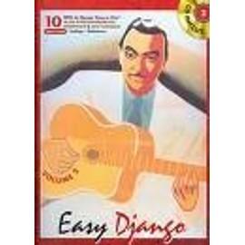 Django Reinhardt : easy django vol 2 (+ 1 cd) - guitare en solfège et tablatures