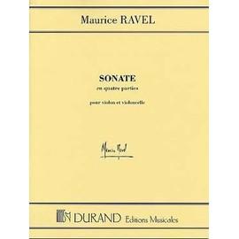 Ravel : sonate pour violon et violoncelle - éditions Durand