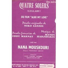 QUATRE SOLEILS ALIKI MY LOVE NANA MOUSKOURI