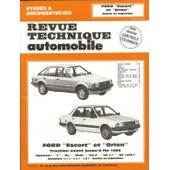 Ford Escort Et Orion - Avec Dossier Contr�le Technique