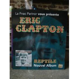 """ERIC CLAPTON - PLV pour la sortie de l'album """"reptile"""", parue en 2001 - 120 x 100 cm."""