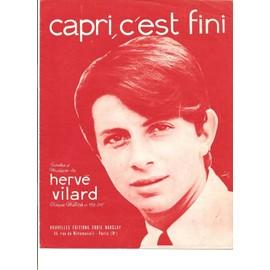 Hervé Vilard - Capri c'est fini - Partition Chant & Piano
