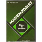Mathematiques, Classe De 2de de Decreton-Poret