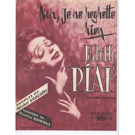Edith Piaf - Non, rien de rien - Chant & Piano- 1960