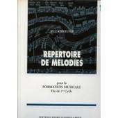 R�pertoire De M�lodies, Vol 1