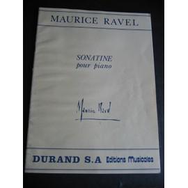 Sonatine pour piano Maurice Ravel