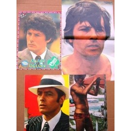 ALAIN DELON LOT 4 POSTERS DIVERS