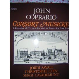 CONSORT MUSICKE fantazies off III parts for viols & dances for three lyras