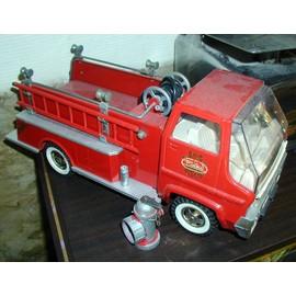 Camion Rouge De Pompier Usa Avec Accessoires