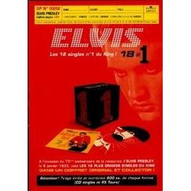 ELVIS PRESLEY PLAN MEDIA LES 18 SINGLES N° 1 DU KING. 55050