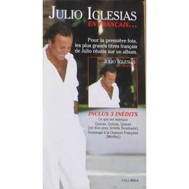 JULIO IGLESIAS PLV PLAQUETTE EN FRANCAIS