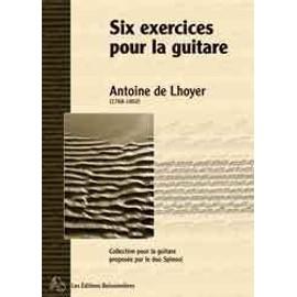 Six exercices pour la guitare opus 27 dédiés à Son Altesse Impériale Madame La Grande Duchesse Anne