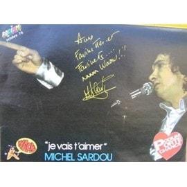 Michel Sardou Poster Mag Podium 10/76 Format 30x20cm