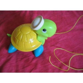 Ancien Fisher Price Tortue A Tirer Vintage