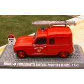 Renault 4 R4 Fourgonnette Sapeurs Pompiers De Nice 1965 Universal Hobbies 1/43