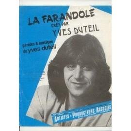 YVES DUTEIL PARTITION LA FARANDOLE