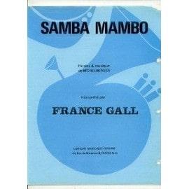 FRANCE GALL PARTITION SAMBA MAMBO