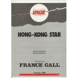 FRANCE GALL PARTITION HONG KONG STAR