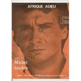 Michel Sardou Partition AFRIQUE ADIEU