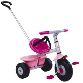 Tricycle Be Fun Rose Avec Canne