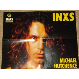 INXS MICHAEL HUTCHENCE / MICHAEL JACKSON poster STARS Magazine. 1986