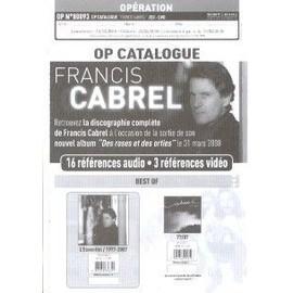 FRANCIS CABREL PLAN MEDIA LA DISCOGRAPHIE. 80093