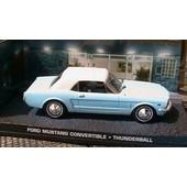 Universal Hobbies - Diorama Ford Mustang Convertible Thunderball James Bond 007 - 1/43