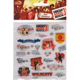 high school musical 3 3 plaquettes de stickers