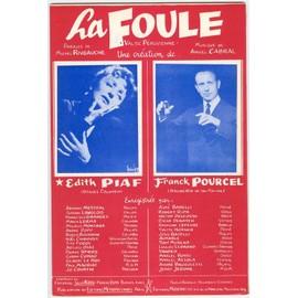 Partition : LA FOULE + QUAND PARIS S'ENDORT