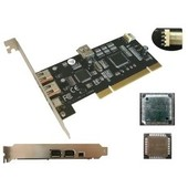 Carte controleur PCI Firewire 400 - Double Chipset TI Texas Instruments avec reprise d'alimentation
